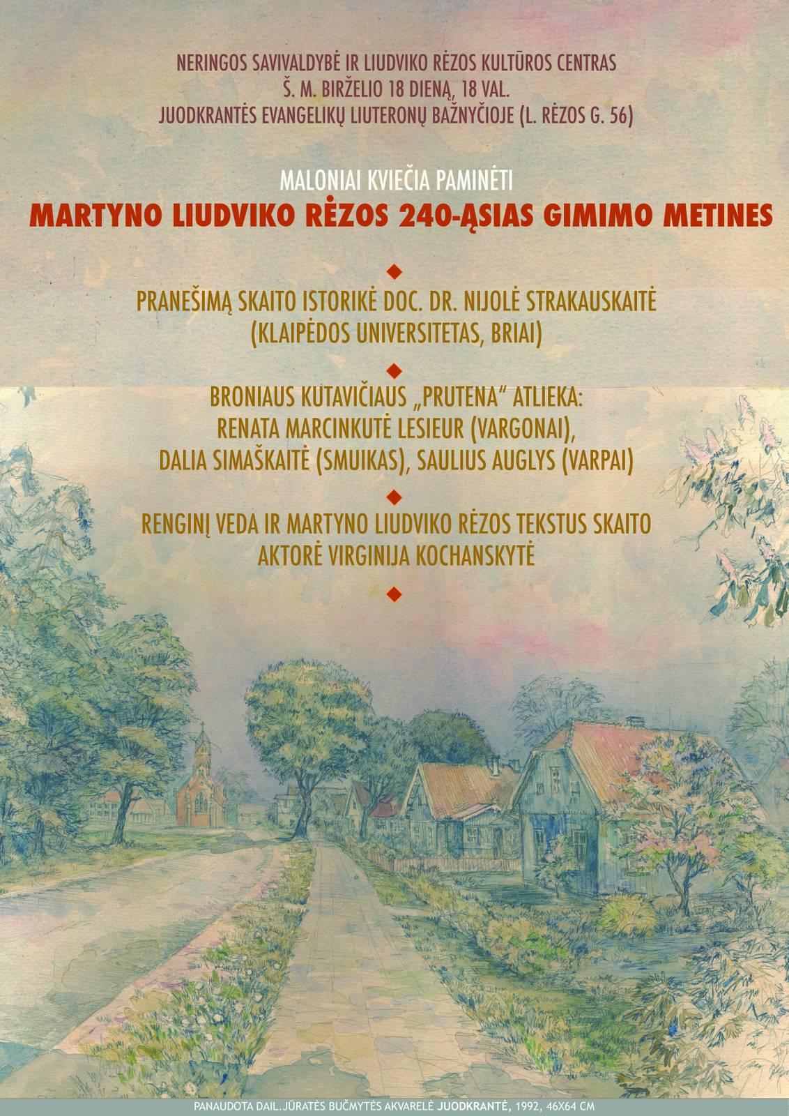 plakatas 240 Liudvikas Rėza